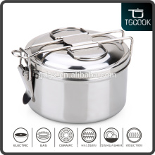 14cm 4 pcs Stainless Steel Round Lock Tiffin Lunch Box/Metal Food Carrier