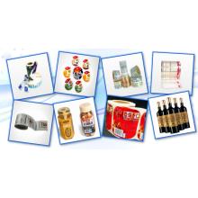 Impression d'étiquettes d'autocollant de bouteille de boisson de fruits en plastique