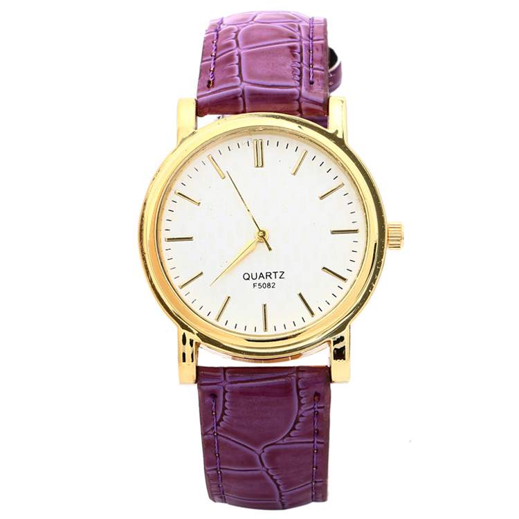 Unisex Vein Leather Waterproof Golden Luxury Watches