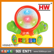 Musical Colorful Light B/O Cartoon Electric Drum