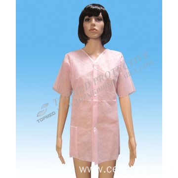 Nonwoven Female Pink Lab Coat