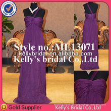 purple silk simple design dresses for party