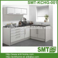 white color high gloss European style modular kitchen cabinet