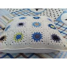 Crochet car seat sofa cushion for outdoor patio furniture
