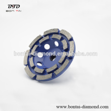 Diamond double row cup wheel for concrete