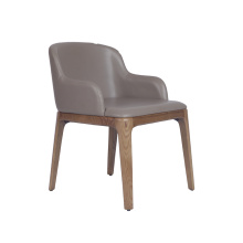 Moderne Wohnmöbel Grace Leather Dining Armchair