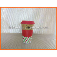 Haonai KC-00944 lovely ceramic mug with silicon lid