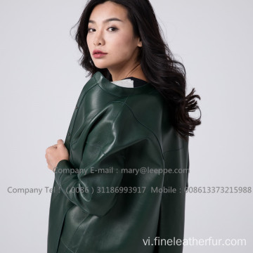Patent Leather Long Coat For Women