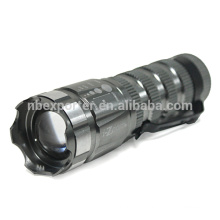 High quality tactical zoom flashlight torch