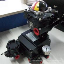 Chine fait bon marché prix haute qualité POV actionné pneumatique vanne papillon positionneur 4-20MA