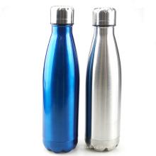 garrafa de água de aço inoxidável à prova de vazamento popular dupla parede à prova de vazamento