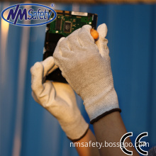 Nmsafety PU ESD Anti-Static Electronic Factory Work Glove