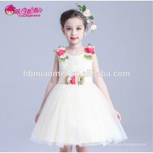 Nouveau design coloré belle enfants robe de mariée enfants design court enfants fille robe de danse latine pour pary et de mariage