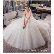 OEM 2017 Elegant Off Shoulder White Princess Tulle Lace Ball Gown Wedding Dress Under 100