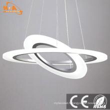 Anneaux ronds en gros acrylique pendentif suspendu LED pour la maison