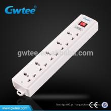 Tomada de 5 vias saída de extensão elétrica universal fusível tomada de corrente
