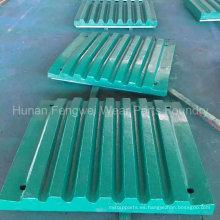 Placa trituradora de mandíbula fija y oscilante de China Fundición profesional de fundición