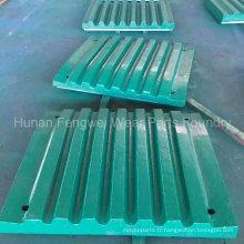 Plaque de concasseur de mâchoire fixe et pivotante en Chine Fonderie de fonderie professionnelle