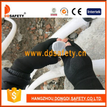 Nylon Polyester Knitted Gloves with Half Finger Dkp529