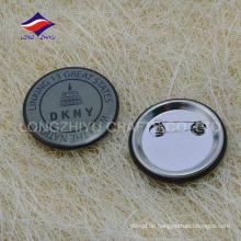 Kundenspezifisches Metall 2D Druckgeschenk-Abzeichen mit safty Stift