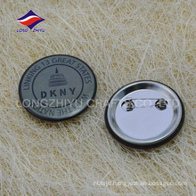 Customized metal 2D printing gifts badge with safty pin