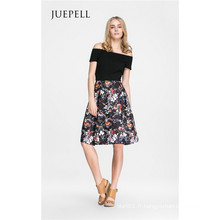 hors épaule Floral Femmes Dress