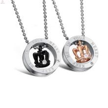 Vente chaude bijoux titane à la main petit amour collier collier couple amour