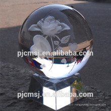 boule de cristal transparente personnalisée en gros pour le cadeau et la faveur de souvenir