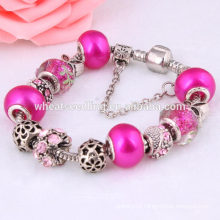Yiwu local hollow out beads manufacturer metal handmade bracelet