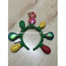 Green yellow and red bulb headband