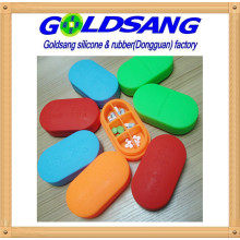 Hot Selling Silicone Pill Storage Box Customized Logo