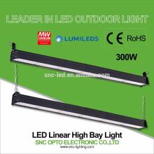 CE RoHS aprobó 300w LED Linear alta iluminación de la bahía con Mean Well HLG Driver