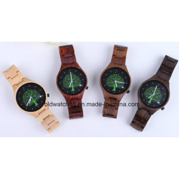 Womens Wood Watch Ladies Swiss Movement Wristwatches Handmade Natural Wood Watch