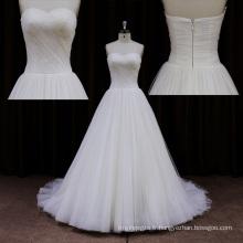 Balayage train tulle tribunal train ivoire robes de mariée