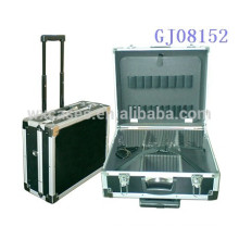 strong aluminum trolley tool box with tools store system&adjustable compartments inside
