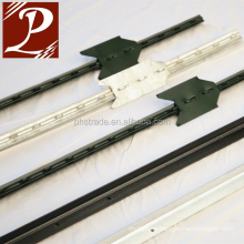 galvanized T-Post with bottom plate for stability