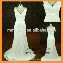 новые модели дизайнера свадебное платье V декольте русалка кружева милая свадебное платье
