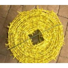Alambre de púas de PVC de bajo precio de alta calidad (amarillo)
