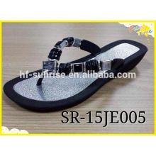 Air Sole Blowing Slipper Shoes, diament pvc flat shoes