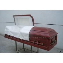 Caixão de madeira de estilo americano & caixão (Gwf01-06)