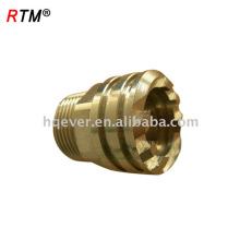 J17 4 12 9 pex pipe latón accesorios de compresión latón tubo tuercas y accesorios