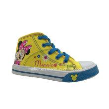 Moda dos desenhos animados crianças shoes sapatilha (x166-s & b)