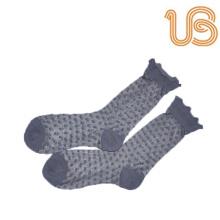 Chaussettes en soie Jacquards Dots pour femmes
