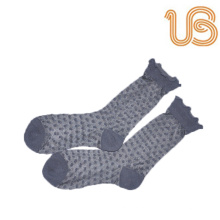 Women′s Jacquards Dots Silk Sock