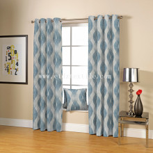 Popular Design for for Linen Curtain Fabric TYPICAL SPECIAL YARN DYED LINEN LOOKING JACQUARD CURTAIN supply to China Macau Factory