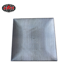 Square Wood Grain Plastic Charger Plate