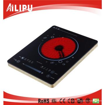 Controle do botão 2000W e fogão elétrico da indução do controle do toque contra o fogão infravermelho