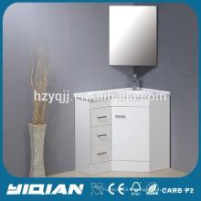 Cabinet d'angle Baignoire en résine Cabinet d'angle miroir Cabinet de coin professionnel en laque blanche MDF