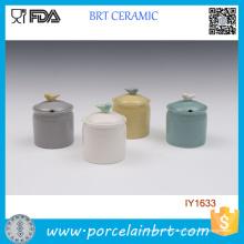 Atacado Adorável Colorido Especiarias De Cerâmica Jar
