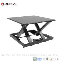 Grand bureau d'ordinateur assis et debout réglable en hauteur avec instructions de montage